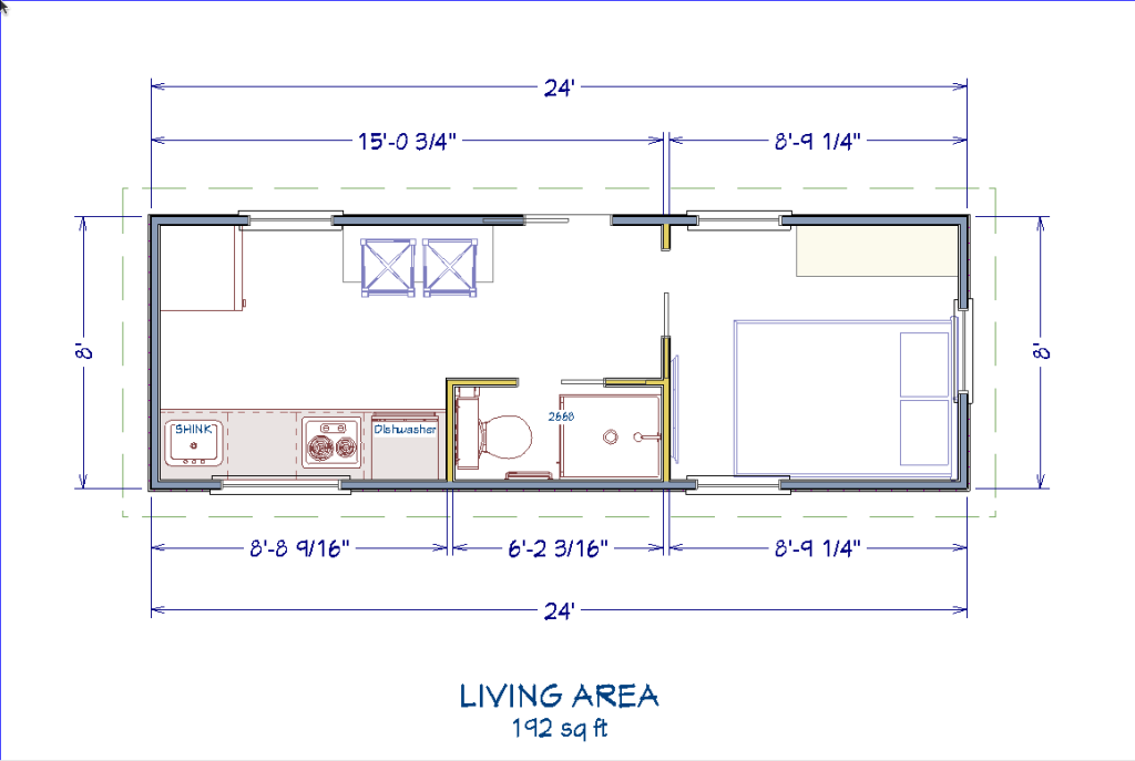 One story tiny house floor plans